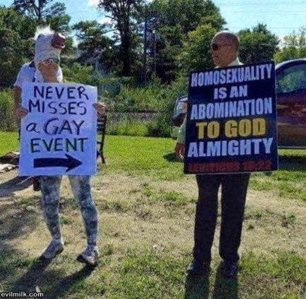 Consistent Gay Protester