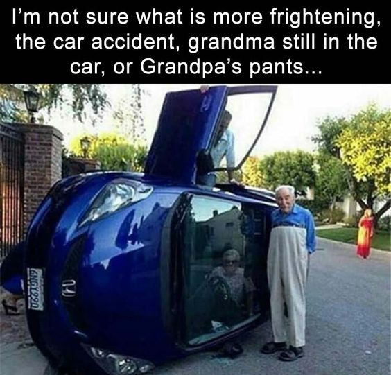 Grandma and Grandpa Car Accident