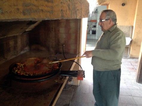 Paella en El Cortijo