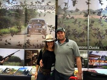 Paula Martinez and a hunter
