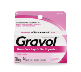 Gravol is an over-the-counter medication used to treat motion sickness and nausea. I never thought that I would get motion sickness while I was abroad, but now its an irreplaceable medication whenever I travel abroad.