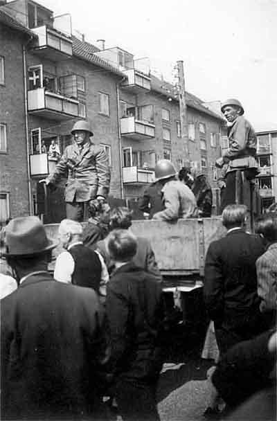 Frihedskæmpere på Rubinsteinsvej.