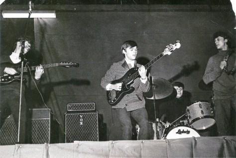 KBE Hallen i Maribo, opvarmning for Brian Poole & The Tremeloes, søndag 16. januar 1966