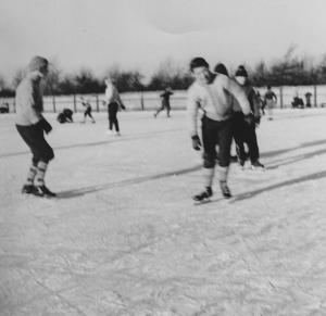 Skøjtebanen i Valbyparken 1960