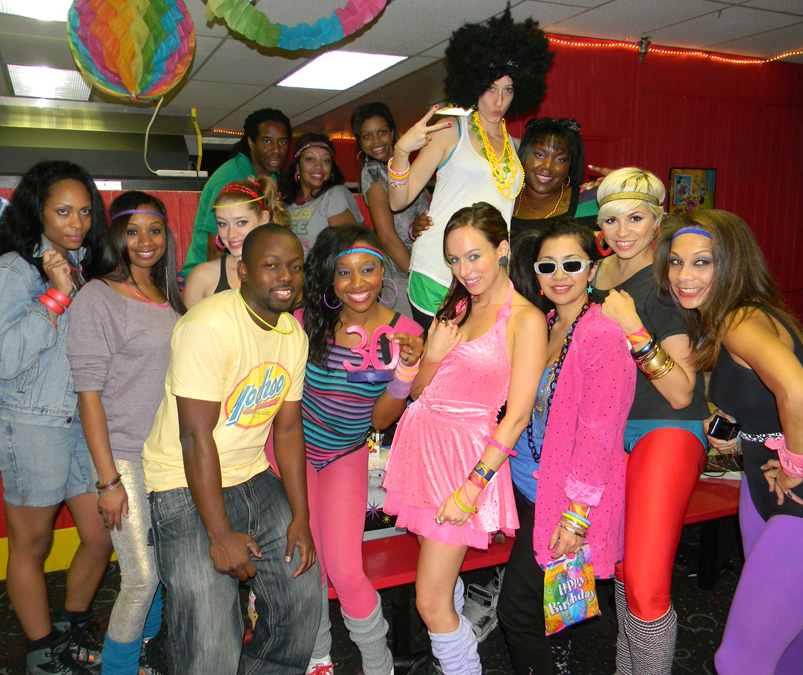 Sydne Summers Fashion Diary 80s Skate Party