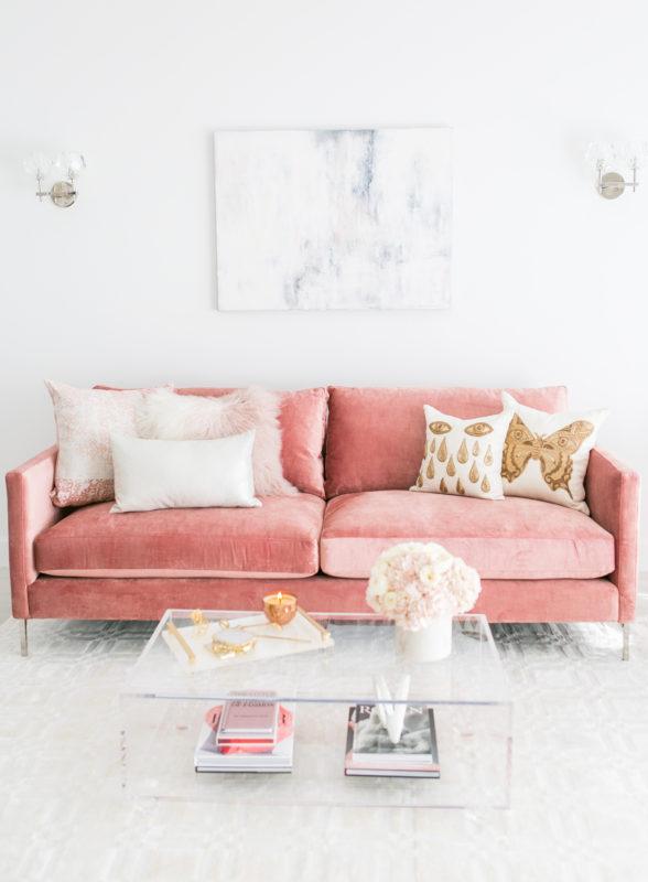 "Blush Living Room Decor | Redecorating & Design on ""Room Decor""  id=53027"