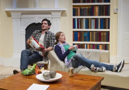 Matthew Zeremes ( Martin) and Matilda Ridgeway (Kate). Pic Steve Lunam
