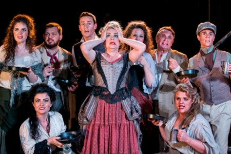 Mrs Lovett with the Ensemble. Pics by Bob Seary