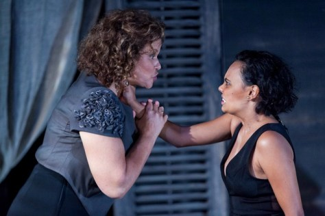 Leah Purcell and Miranda Tapsell in Belvoir's revival of Louis Nowra's classic play, RADIANCE