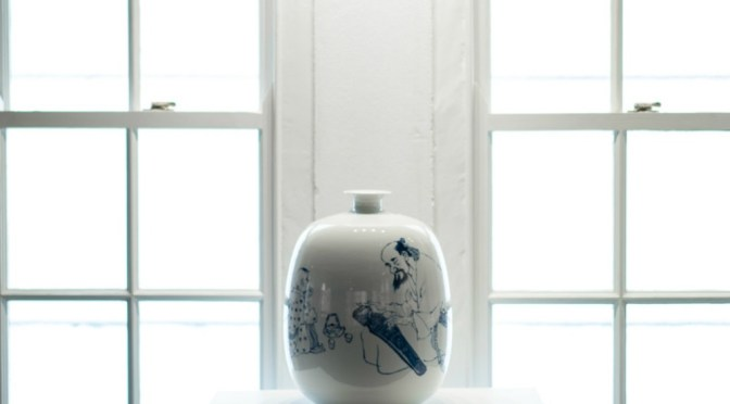 SHADES OF WHITE- WUXI PAINTING ON PORCELAIN