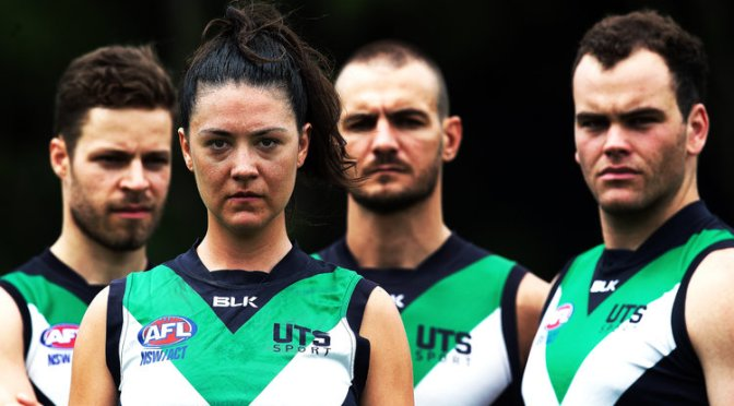 FIERCE. A WOMAN IN THE MEN'S AFL? AN INTERVIEW WITH THE ACTOR UP TO THE CHALLENGE.