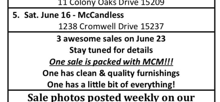 Upcoming sales!