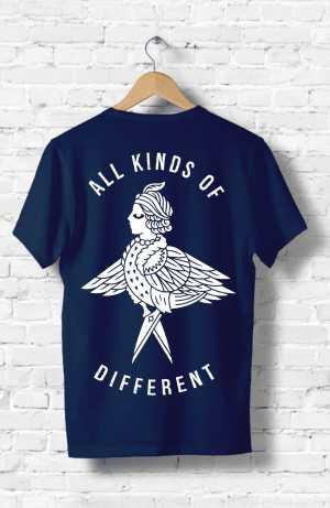 brewery merchandise blue t-shirt back