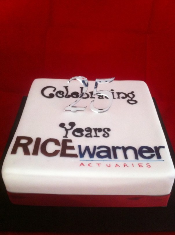 Rice Warner Actuaries Celebration Cake