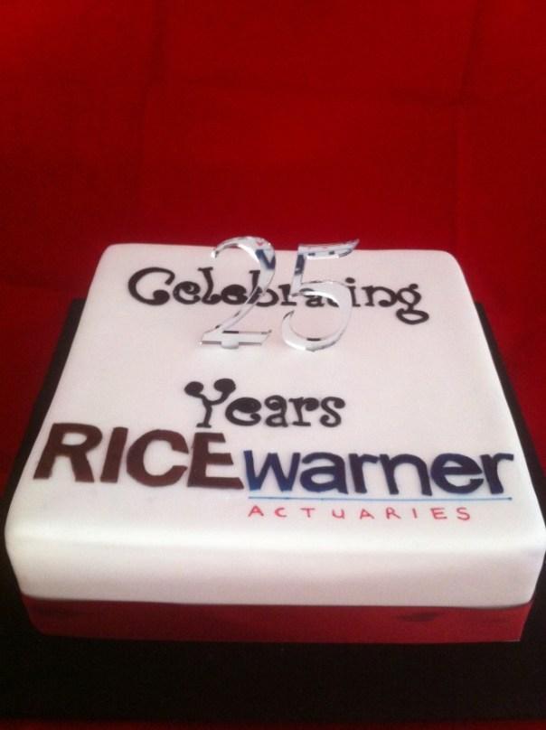 Rice Warner Actuaries Celebration Cake