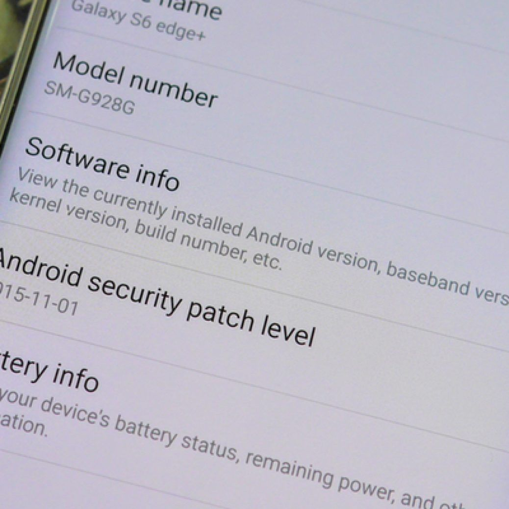 Samsung now shows Android security patch info on the Galaxy Note 5