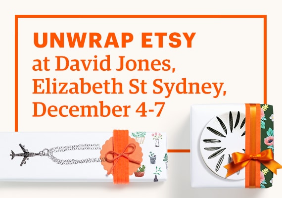 This weekend, David Jones has teamed up with Etsy at their Sydney store