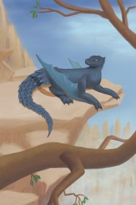armadillo dragon digital drawing