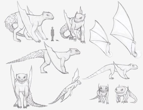 armadillo dragon creature model sheet