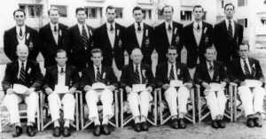 Australian Rowing Squad 1952, Riley third from left sitting
