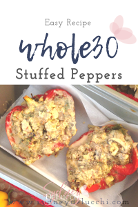 Easy Whole30 keto paleo low carb stuffed peppers