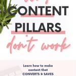 content pillars for social media don't work