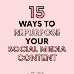 social media graphic on a pink background