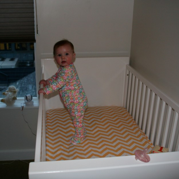 First time standing up on her own Feb 25 2014
