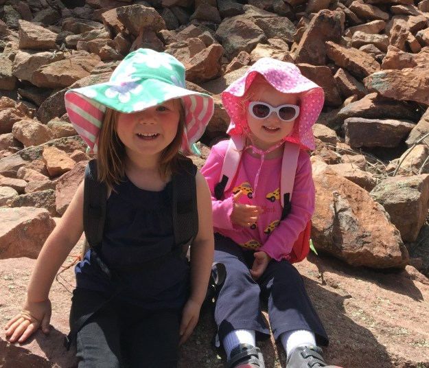 Sydney and Evie on hike May 29