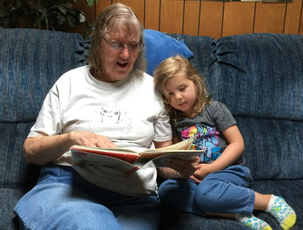Grandma Reading to Sydney