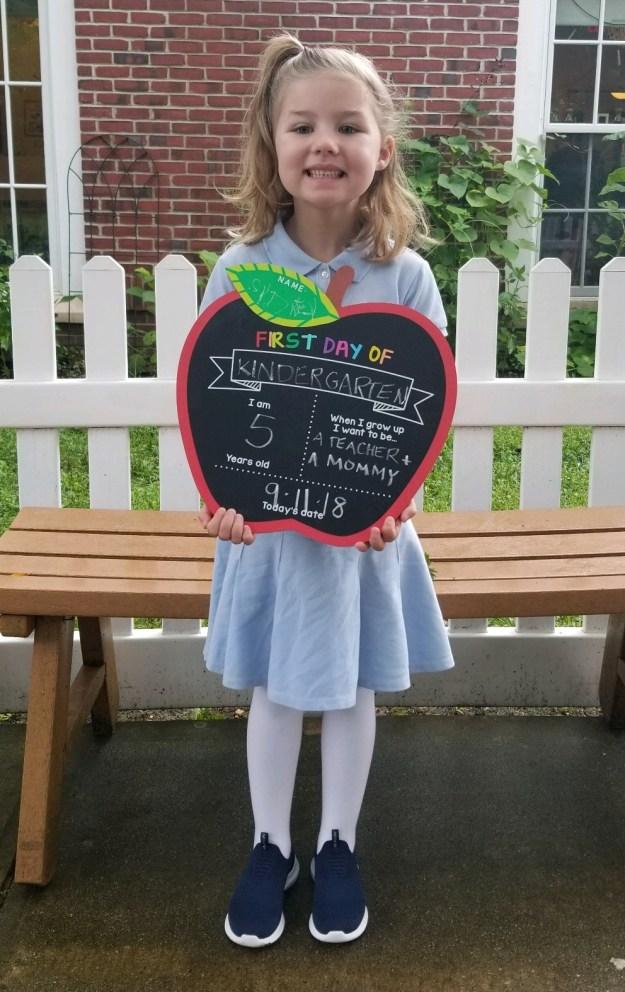 First Day of Kindergarten at Green Vale School