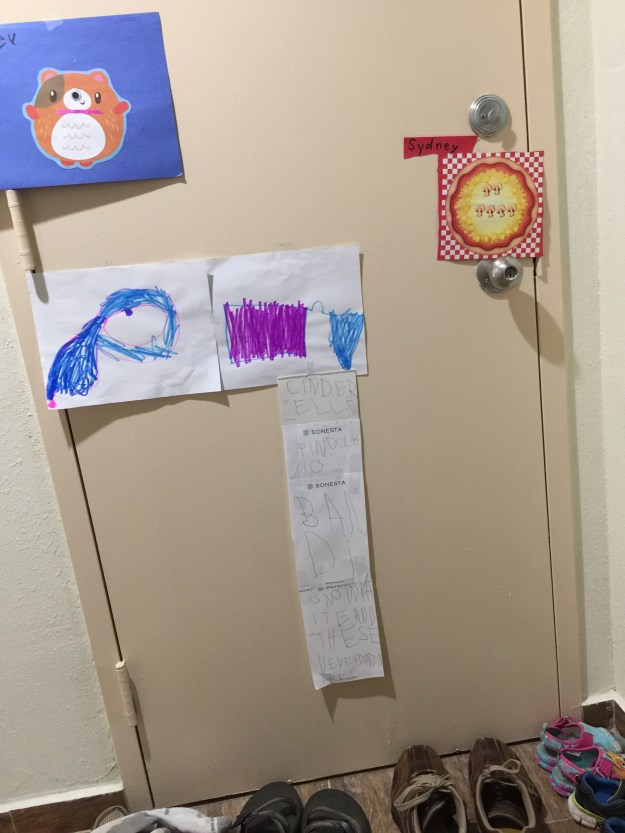 Decorating the Walls With Sydney's Paintings