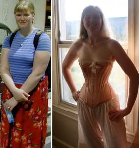 Sarah Crisman wearing corset