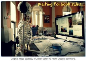 Skeleton Author Awaiting Sales