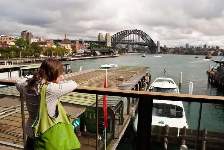 Circular Quay Station View of the Sydney Harbour Bridge