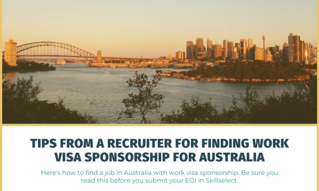 Tips from a Recruiter for Finding Work Visa Sponsorship for Australia