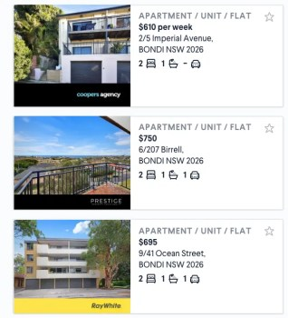 Bondi Rental Search