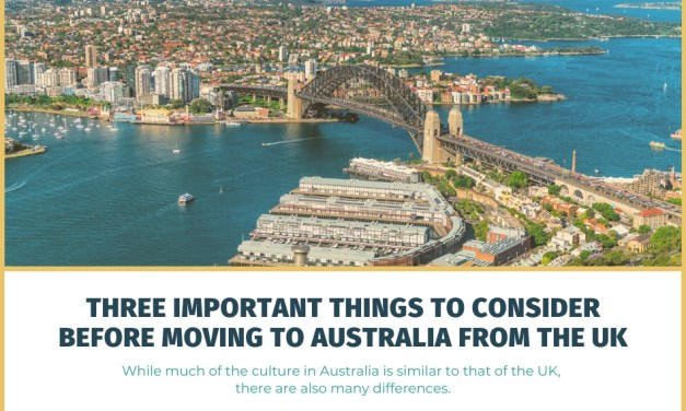 Three Important Things to Consider Before Moving to Australia from the UK