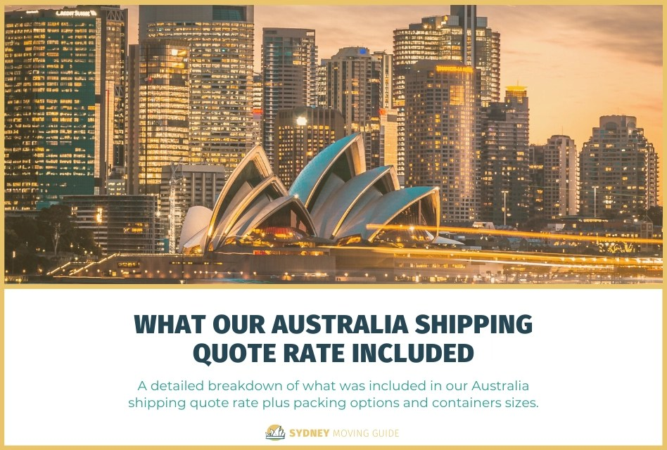 What Was Included in Our Australia Shipping Quote That You Need to Know About When You Get Your Quote