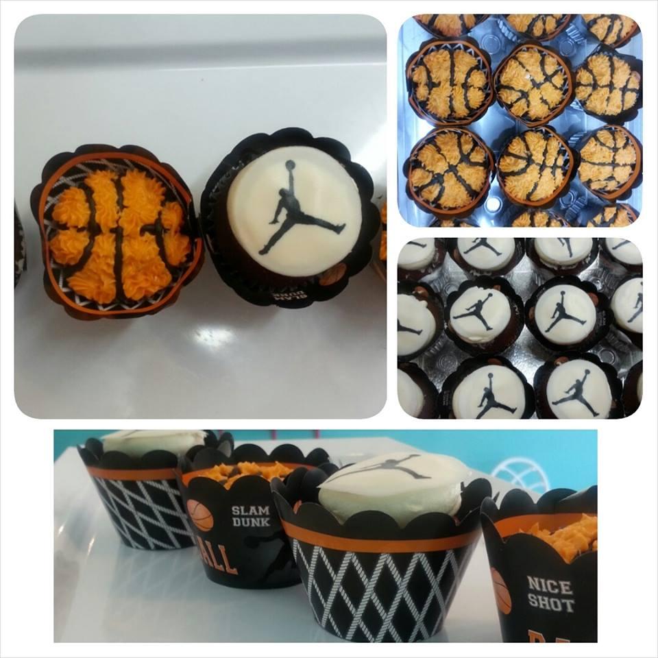 Michael Jordan Basketball Cupcakes