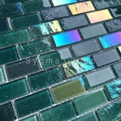 carrelage mural en verre pour cuisine et salle de bains kalindra vert