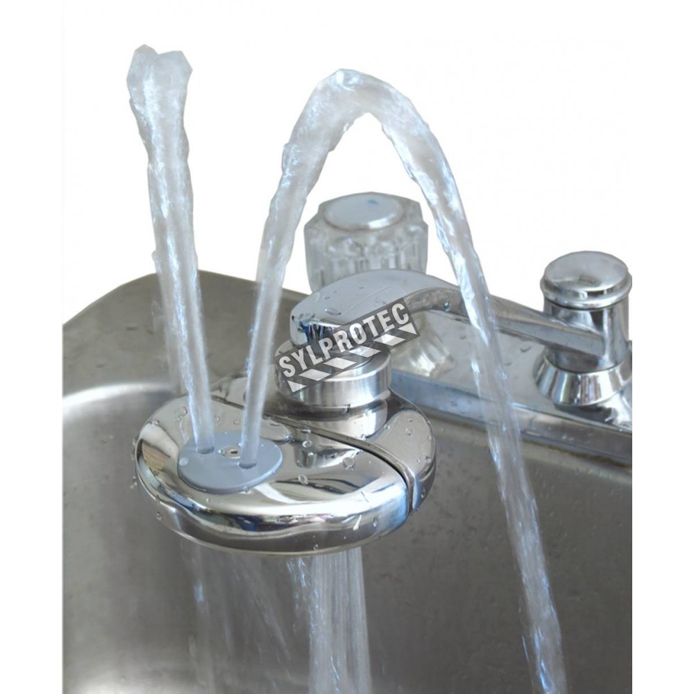 eyepod faucet mounted eyewash with anti scald valve ansi z358 1 compliant
