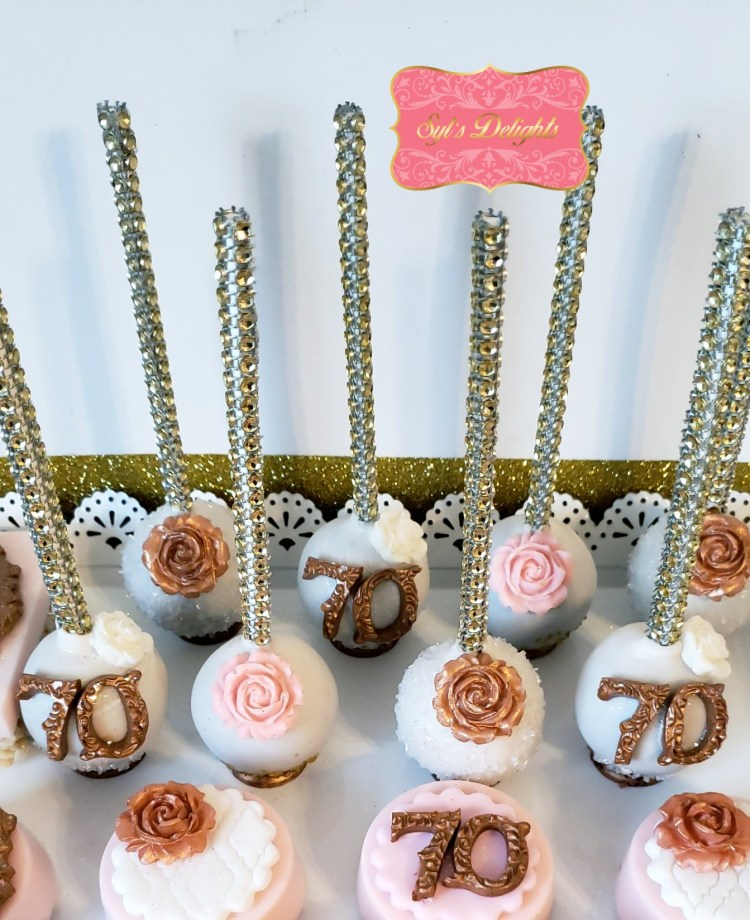 Rose gold party package