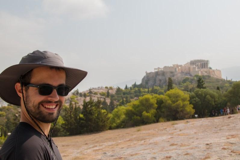 L'Acropole vue depuis le Pnyx.