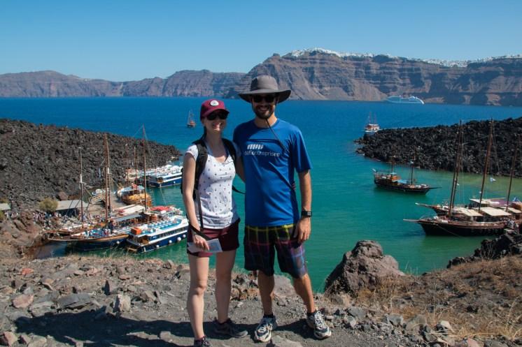 Sur le volcan Néa Kaméni.