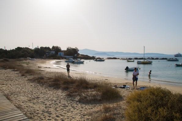 La petite plage d'Agia Anna.