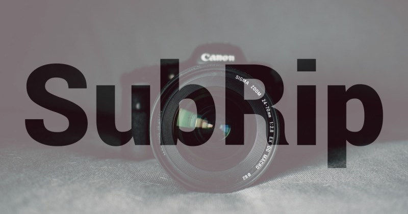 Introduction au format SubRip.