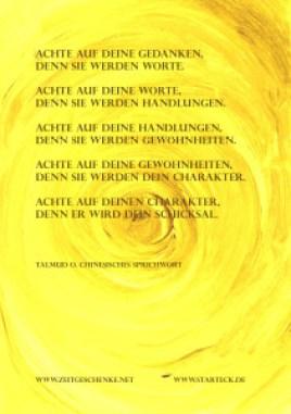 gelb-achte auf deine Gedanken Kopie
