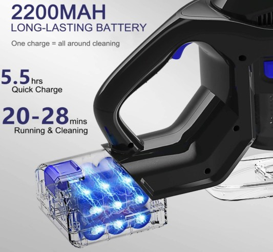 MOOSOO XL-618A Power and Battery