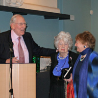 Sylvia with Sir Roger and Lady Moyra Bannister